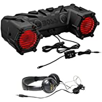 Package: Boss ATV30BRGB 450W ATV Motorcycle/Off Road/Marine Dual 6.5 Speaker System Weather Proof With Bluetooth and Internal Amp + Audio Technica ATH-M3X Dynamic Stereo Headphone