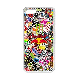 SVF Cool Sticker Bomb Graffiti Cell Phone Case for iphone 5c