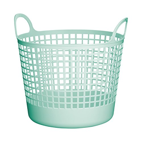Round Laundry Basket (Like-it SCB-1 Portable Round Hamper, Mint Blue)