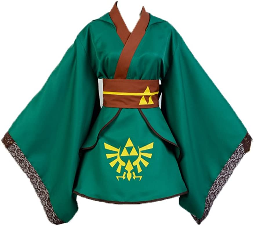 La leyenda de Zelda Traje Japonesa Estilo Verde MUjer Link Deluxe ...