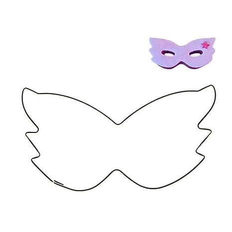 FBlue Máscara forma de la torta del cortador de acero inoxidable Sugarcraft galleta de la galleta