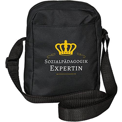 Umhängetasche Sozialpädagogik Expertin schwarz