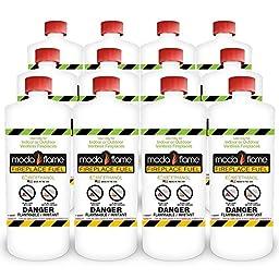 Moda Flame 1 Quart Bio-Ethanol Fireplace Fuel 12 Bottles