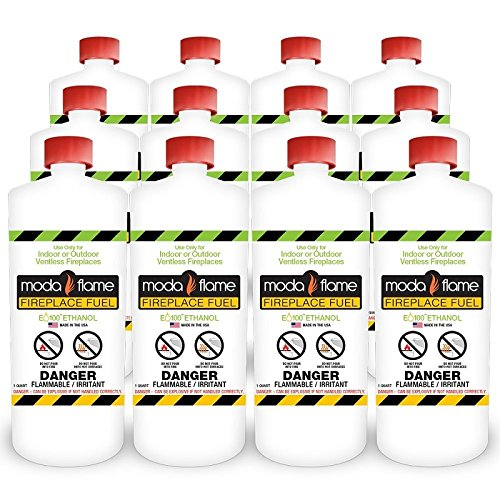 Great Features Of Moda Flame 1 Quart Bio-Ethanol Fireplace Fuel 12 Bottles
