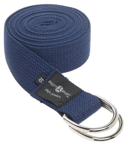 Hugger Mugger D-Ring Yoga Strap (Navy, 10 ft.)