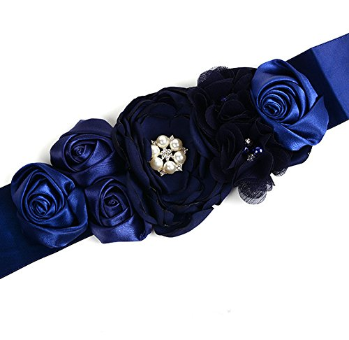 Floral Fall Flower Maternity Pregnancy Sash Baby Shower Dress Accessories Evening Dress Belt SH-03