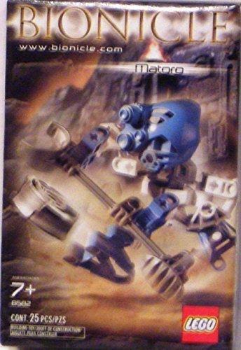 Lego Bionicle Matoran Mini Box Set Figure #8582 Matoro (Light Blue) Bionicle Blue Figure