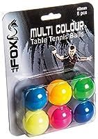 Fox TT Unisex-Erwachsene 6Stück Bälle Tisch Tennis Bälle-Multi