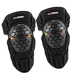 Cyruss Adjustable Motorcycle Knee Pad Protector Antislip Knee Shin Guard Crashproof