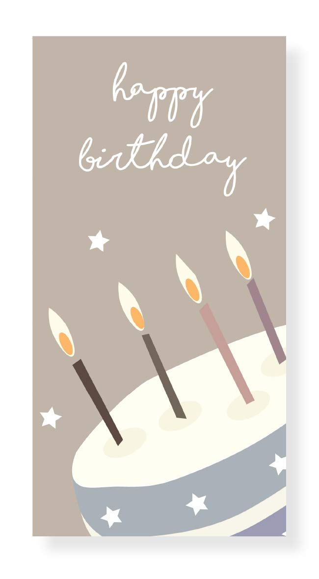 Happy Birthday Cake Money Wallet With Silver Foil Text By Jonathan Glick Designs Amazoncouk Office Products
