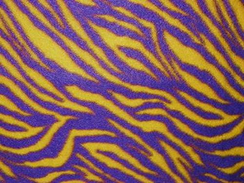 - Purple & Gold Zebras Stripes Fleece Fabric - 60