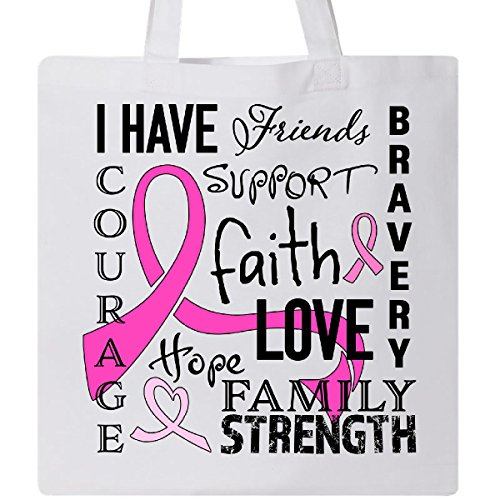 Inktastic - I Have. Inspirational Words for Breast Cancer Tote Bag White 2b367