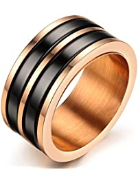 king will classic men 8mm black tungsten carbide rings polished beveled edge double groove wedding bands - Black Wedding Rings For Men