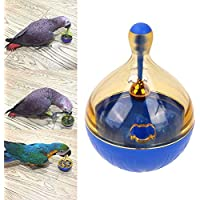 Bird Seed Food Foraging Ball Tumbler Toy for Pet Parrot Budgie Parakeet Cockatiel Conure Lovebird Finch Canary Cockatoo African Grey Macaw Eclectus Amazon Cage Feeder Accessories