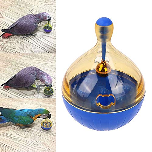 Bird Seed Food Foraging Ball Tumbler Toy for Pet Medium Large Parrot Parakeet Cockatiel Conure Lovebird Budgie Finch Canary Cockatoo African Grey Macaw Eclectus Amazon Cage Feeder Accessories