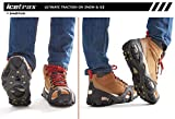 ICETRAX V3 Pro Winter Ice Grips for Shoes and Boots – Ice Cleats for Snow and Ice, StayON Toe, Reflective Heel