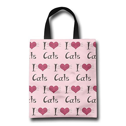 Gjohkrt Borsa Love Shopping manici tote con personalizzata bag Cats qxwtH