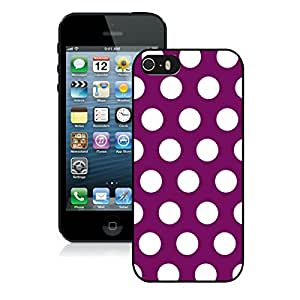 Polka Dot Purple and White Iphone 5 5s Case Black Cover