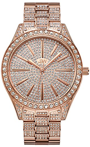JBW Women's Cristal 0.12 ctw Diamond 18k rose gold-plated stainless-steel Watch J6346B