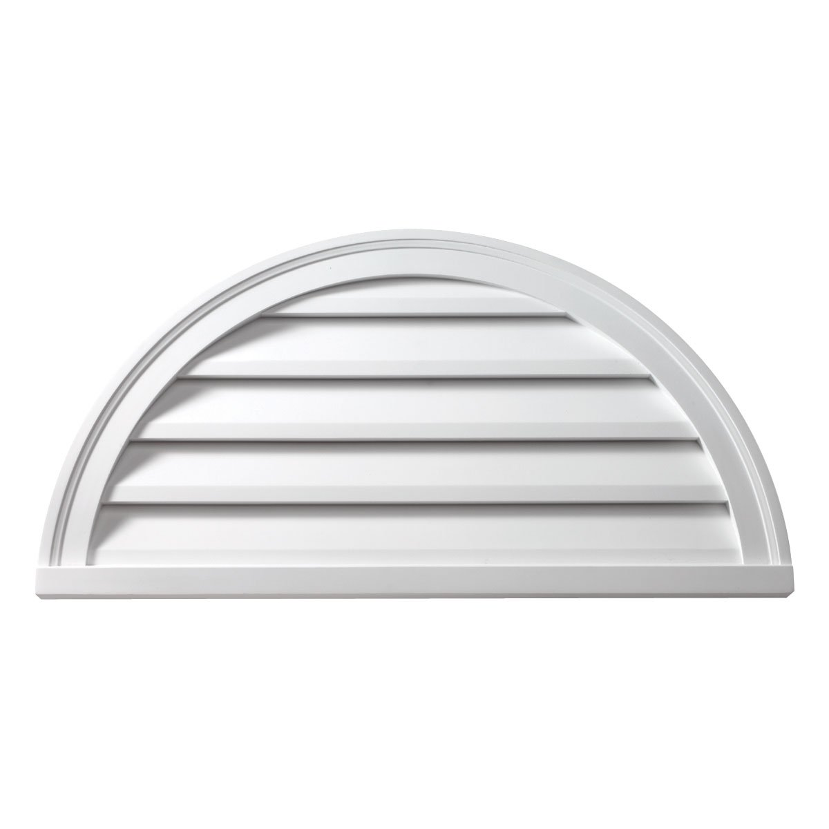 Fypon FHRLV60X30 Functional 60''W x 30''H Half Round Louver