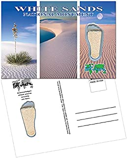 product image for White Sands NP FootWhere Souvenir Postcards - 3 Pieces. Made in USA