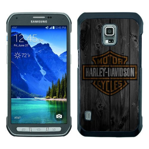 BEIWU Generic S5 Active Protective Case,Harleydavidson Wood Carrying Ultra Slim Case Fit for Samsung Galaxy S5 Active(Black)