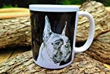 Black Drop BOXER DOG Breed Coffee Mug 11oz (Boxer Dog Breed)