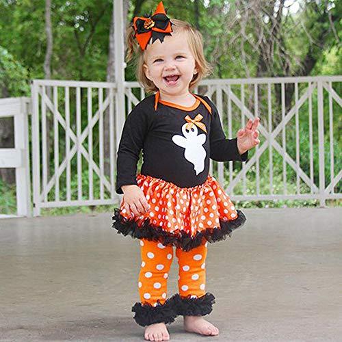 MOKO-PP Newborn Toddler Baby Girls Ghost Dot Dress