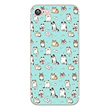 iPhone 6 / 6S, Anime Exotic Collection Colorful Rubber Flexible Silicone Case Bumper for Apple Clear Cover (Anime Cute Cats)