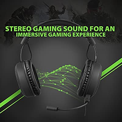 Gaming Headset, AudioMX Over-Ear Sound Isolation Gaming Mic for Xbox One / PS4 / PC / Xbox 360 / PS3 (Detachable 7.1 Surround and Volume Remote for RCA / USB / 3.5 mm)