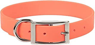 product image for Mendota Pet Durasoft Imitation Leather Collar - Standard Collar - Made in The USA - Waterproof, Odor Resistant - Orange, 1 in x 20 in (Wide)
