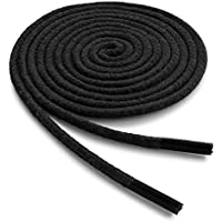 OrthoStep paquete de 2 pares de agujetas enceradas circulares para vestir, de alta duración, para tenis y botas, hechos en EE.UU.