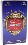 Fournier - Tarot : 78 cartes à jouer Luxe plastifiées Lavables - Dos Bleu