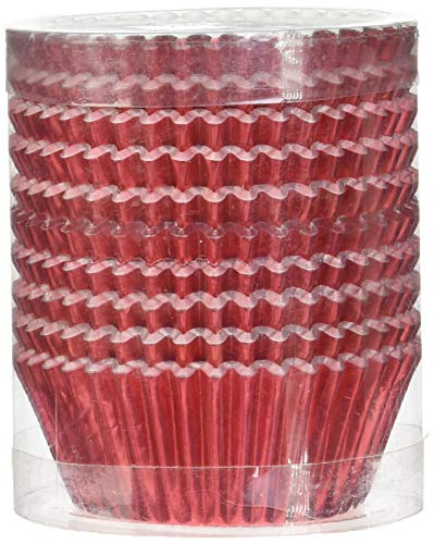 Warm party Foil Baking Cups Cupcake Liners, Standard Sized, 200 Count (Red), (Red Standard Cupcake Wrappers)