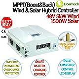 NEW 5kw 48v 150a Mppt Boost&buck Wind Solar Hybrid Controller + Dump-load Device, 5000w Wind 1500w Solar, Rs232 Pc Smart Control, Ce