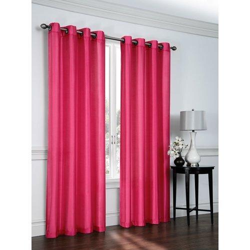 Ebern Designs Belterra Faux Silk Semi- Sheer Grommet Curtain Panels (Set of 2) from Unknown