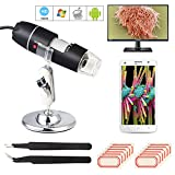 FEPITO 1000X Digital Microscope USB Endoscope Camera With 2PCS Tweezers, 2 Sheets Address Labels