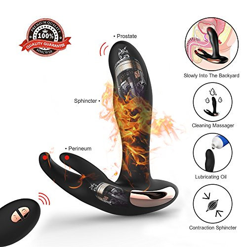 SEVENESS Double Motor Wireless Remote Smart Heating Prostate Massage Anal Vibrator for Men by SEVENESS