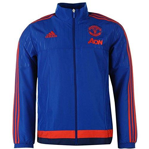 2015-2016 Man Utd Adidas Presentation Jacket (Royal Blue) - Kids (Training Jacket United)