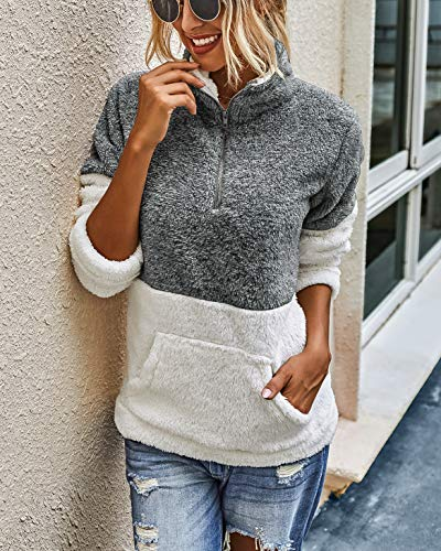 Sherpa pullover quarter zip