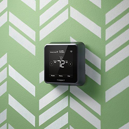 Honeywell RCHT8610WF2006 Lyric T5 Wi-Fi Smart 7 Day Programmable Touchscreen Thermostat with Geofencing, Requires C Wire, Works with Alexa