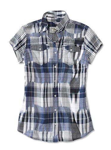 Orvis Short-Sleeved Camp Shirt, Blue Ikat, Large