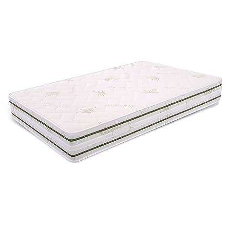 MiaSuite Top H25 110X190 Memory, Aloe Vera, Bianco, 110 x 190 cm ...