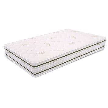 Ailime Colchón para Cama, Poliuretano, Blanco, 120x190x25 cm: Amazon.es: Hogar