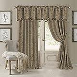 Elrene Home Fashions 026865901498 Blackout Energy Efficient Room Darkening Rod Pocket Window Curtain