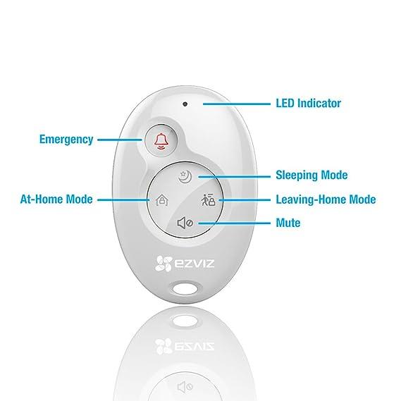 EZVIZ Central de alarma conectada a Internet, A1 de EZVIV, inalámbrica, hasta 32 sensores, transmisión de voz