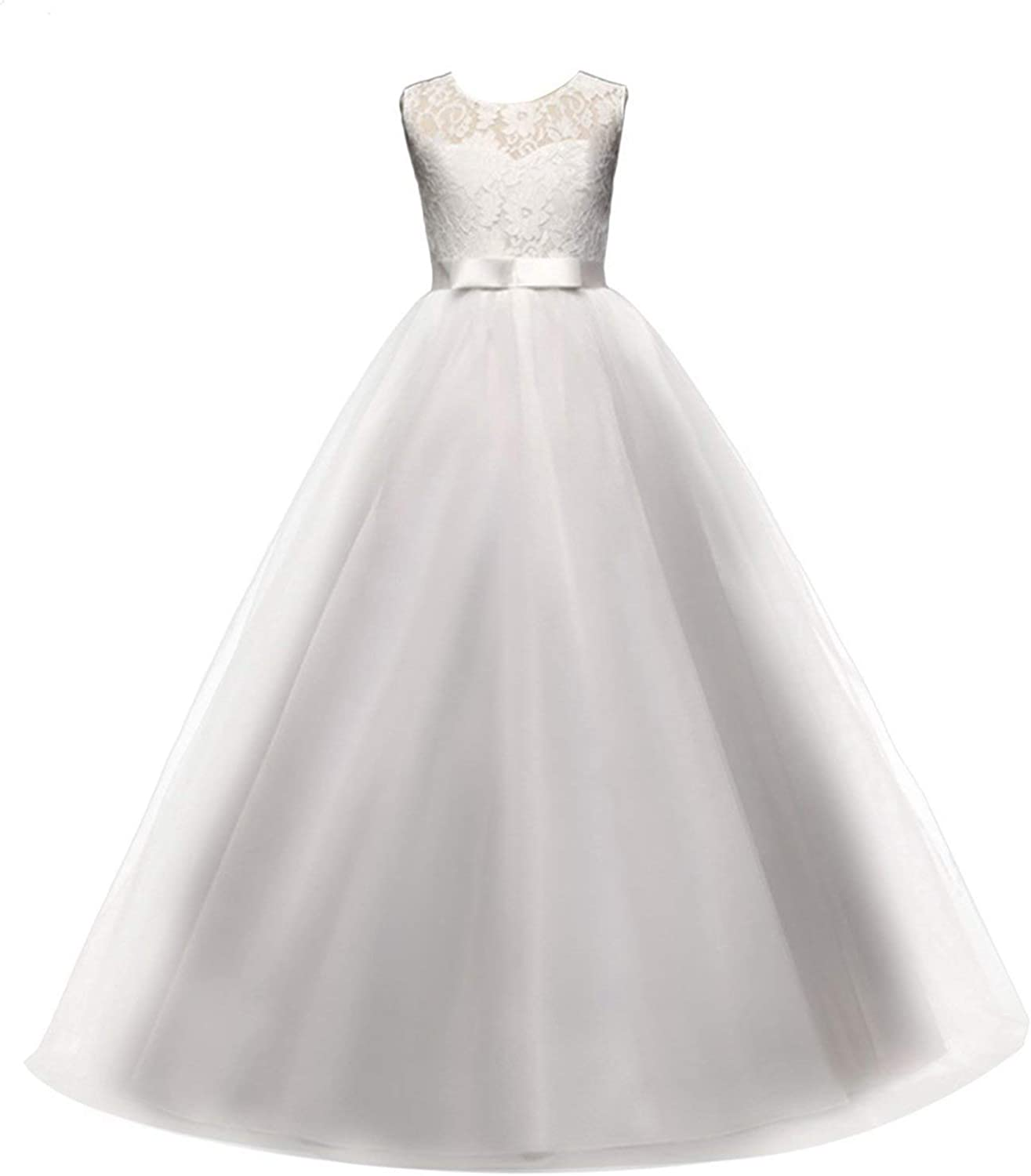 Girls Ball Gown Dress Wedding Princess Bridesmaid Party Prom Birthday for Kids 5-13 Years Old