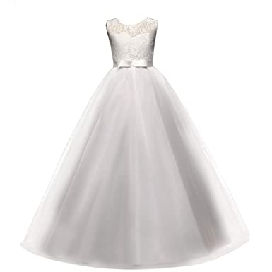 edc0de18ac9e6 Live It Style It Girls Ball Gown Dress Wedding Princess Bridesmaid Party  Prom Birthday for Kids 5-13 Years Old: Amazon.co.uk: Clothing