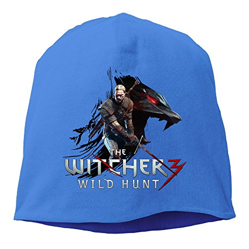 [YUVIA The Witcher 3 Wild Hunt  Men's&Women's Patch Beanie RowingRoyalBlue Cap Hat For Autumn And] (Geralt Witcher 3 Costume)