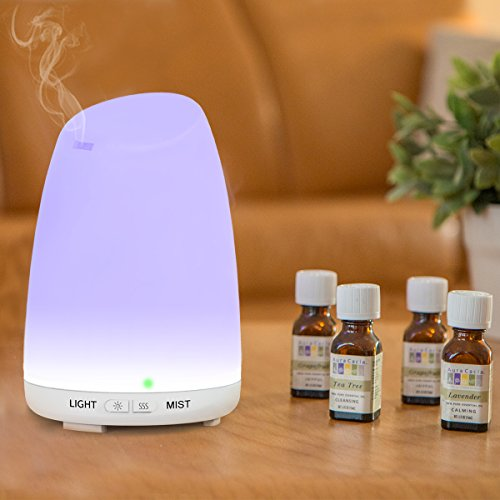 Essential Oil Diffuser, Mulcolor 120ml Ultrasonic Aroma Diffuser Aromatherapy Diffuser Cool Mist Humidifier with 7 Colors LED and Waterless Auto Shut-Off,Perfect For Bedroom Spa Yoga Father's Day Gift by Mulcolor (Image #3)